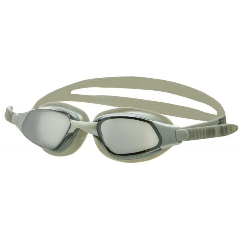 Очки для плавания Atemi B302M белый, серый, зеркальные