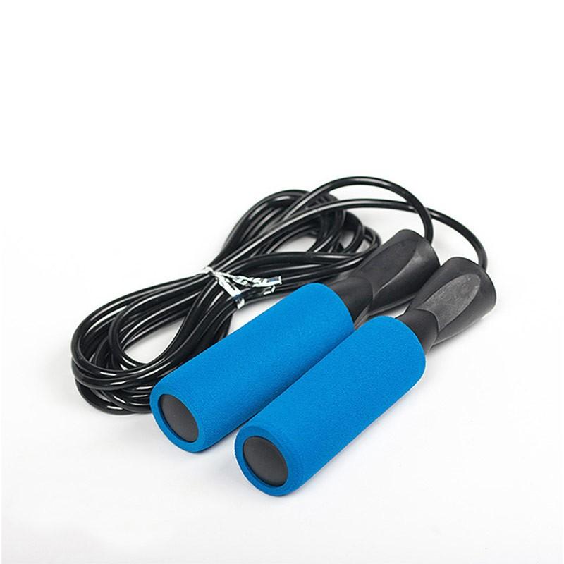 Скакалка с подшипником ручки неопрен D34402 синяя (JPB-300)