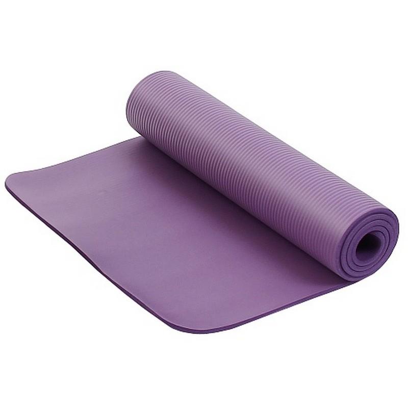 Коврик для фитнеса и йоги Larsen NBR 183х61х1,5см фиолетовый