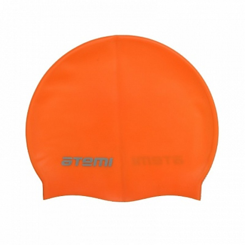 Шапочка для плавания Atemi SC106 силикон, оранжевый
