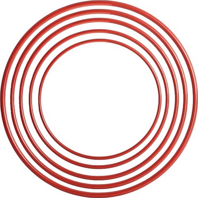 Обруч пластмассовый D100см красный