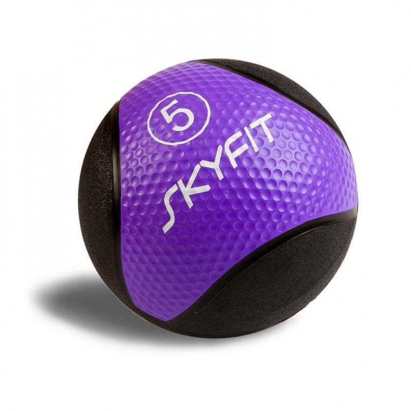 Медицинский мяч 5 кг SkyFit SF-MB5k черный-фиолетовый