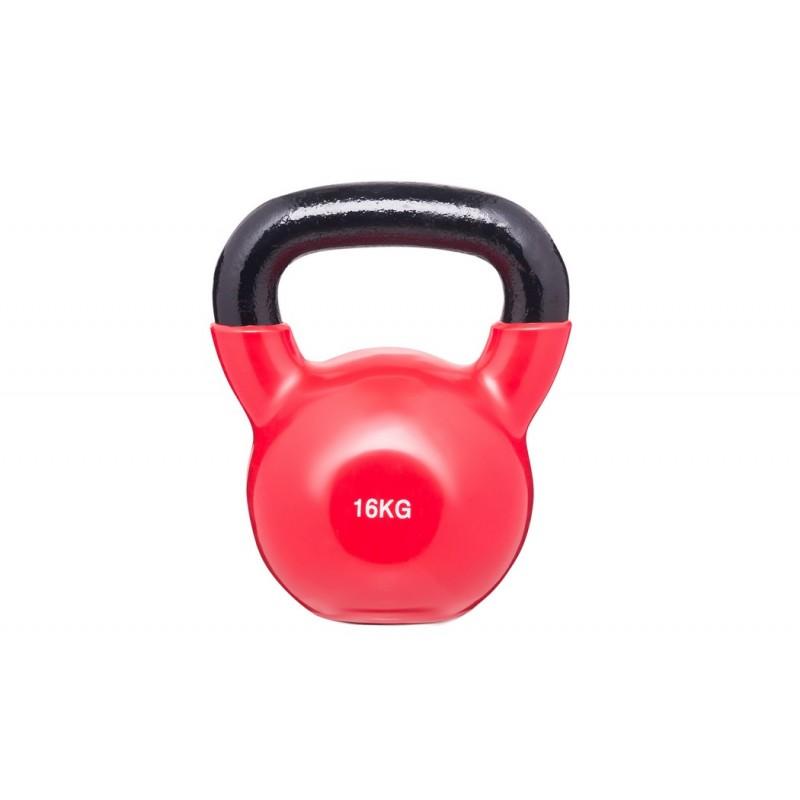 Гиря в виниловой оболочке BenCarFitness 16 кг красный TS-2174/16