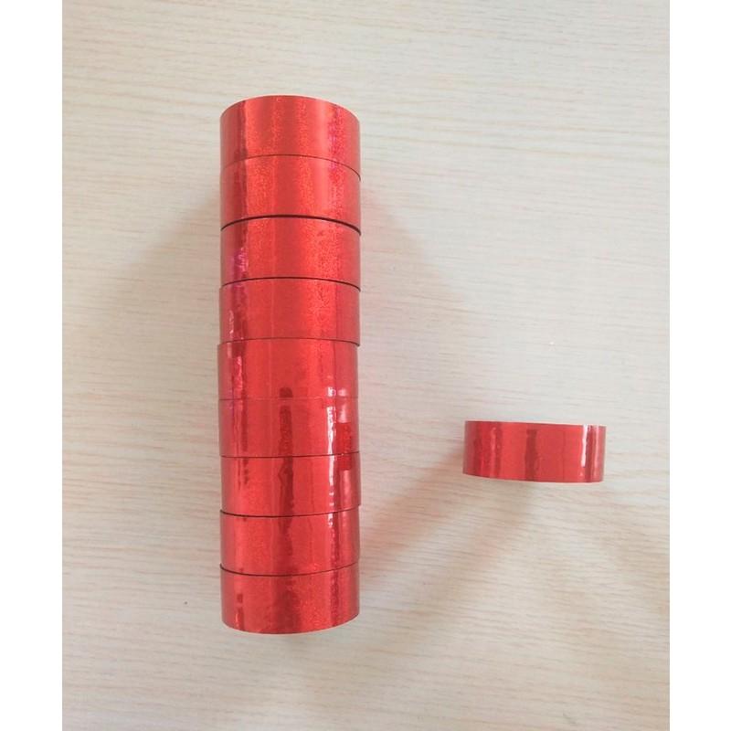 Скотч-лента для художественной гимнастики Amely AGS-301 20 мм, 15 м, красный