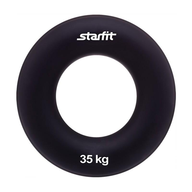 Эспандер кистевой Star Fit ES-404 Кольцо, диаметр 8,8 см, 35 кг, чёрный
