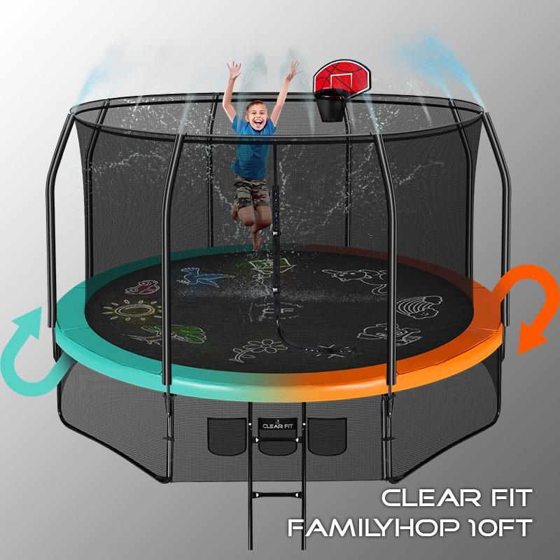 Батут Clear Fit FamilyHop 305 см 10Ft