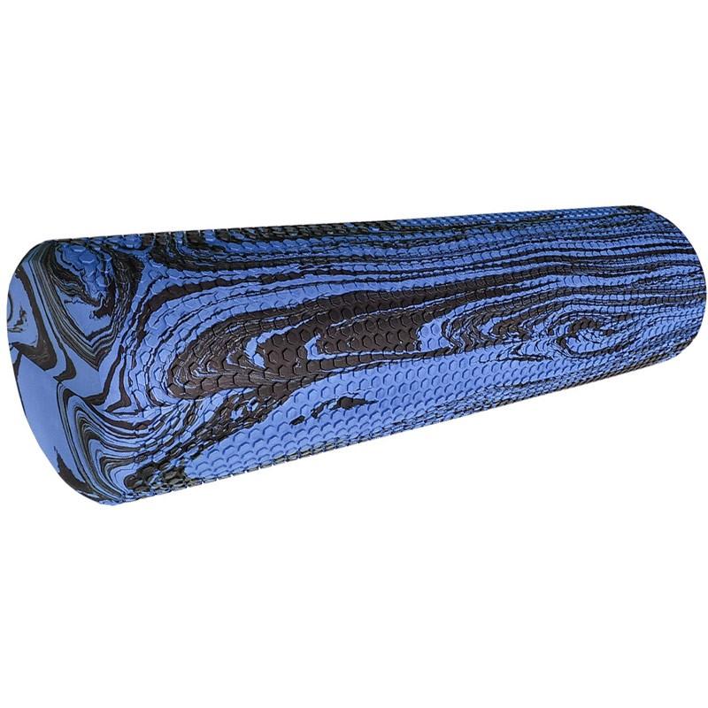 Ролик для  йоги и пилатеса 45х15см RY45-MK1 синий гранит D34492 (ЭВА)