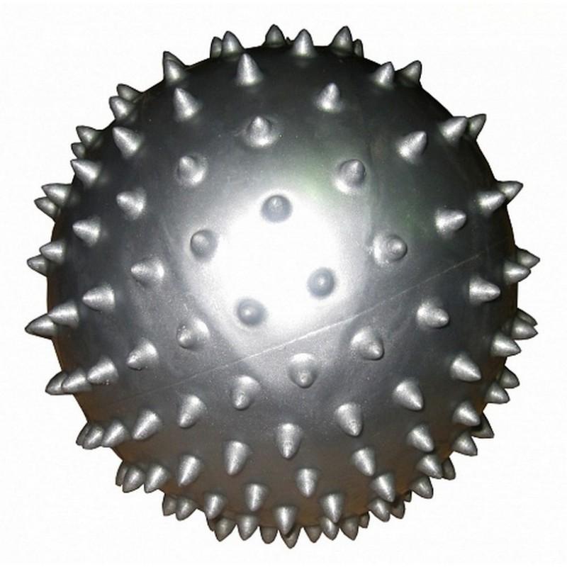 Мяч массажный d20см Alonsa SMB-06-01 серебряный