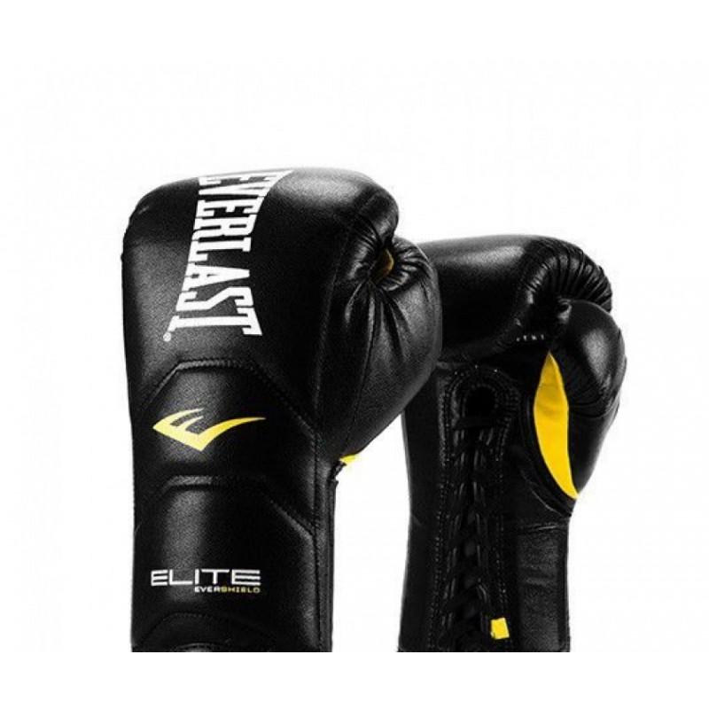 Перчатки тренировочные Everlast Elite Pro черные 16 oz P00000679 16 BK