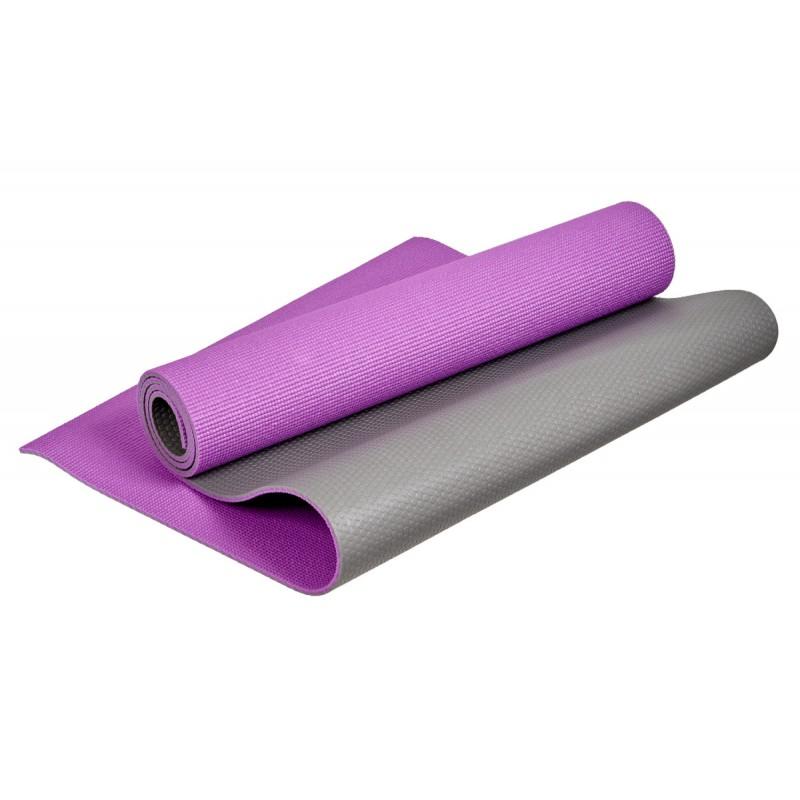 Коврик для йоги и фитнеса двухслойный 173x61x0,6см Bradex SF 0687 фиолетовый
