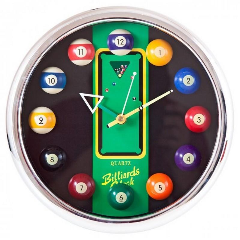 Часы настенные 12 шаров d27 см 40.128.12.0 хром, пластик
