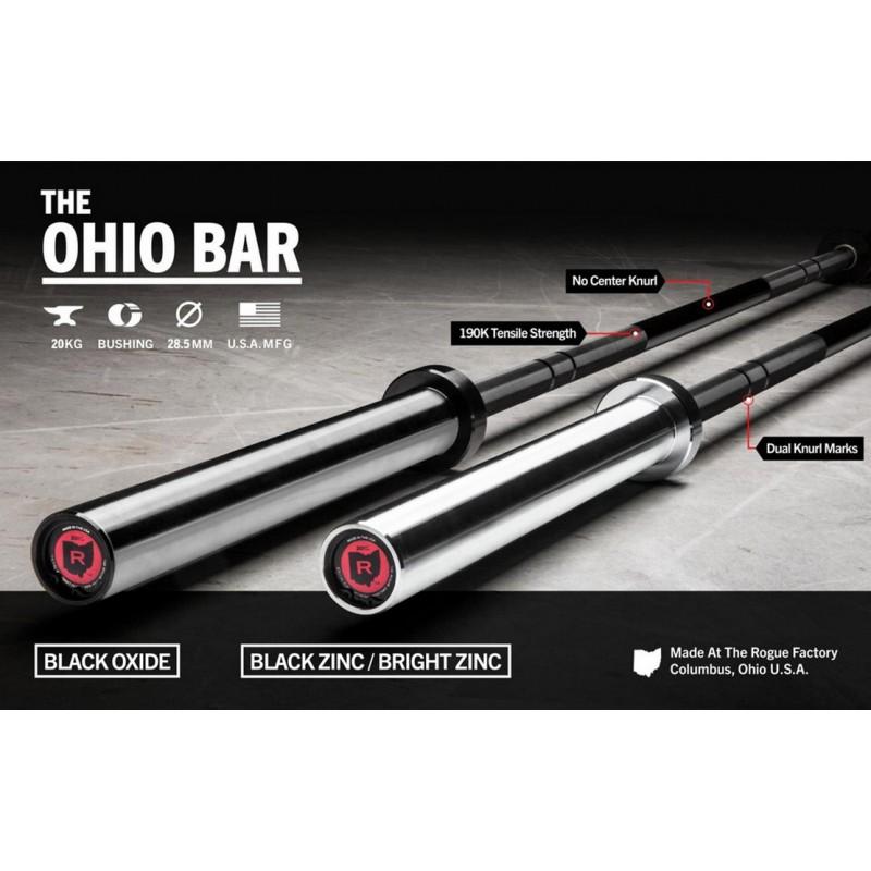 Гриф для штанги Rogue Fitness 1.2 Ohio мужской Черный Оксид / Черный Оксид L220см D50мм