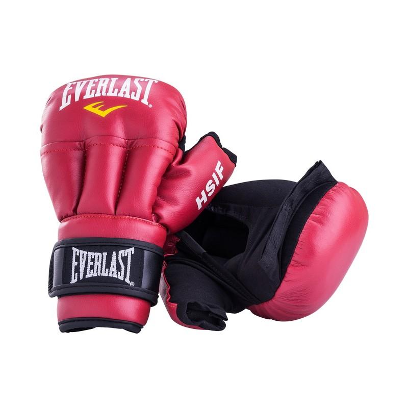 Перчатки для рукопашного боя Everlast HSIF Leather, красные L, 12 oz RF5112L