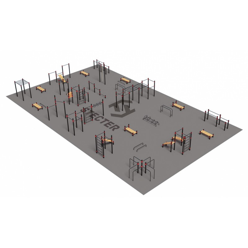 Проект Stecter Парковая площадка для Воркаут 4-6 5081