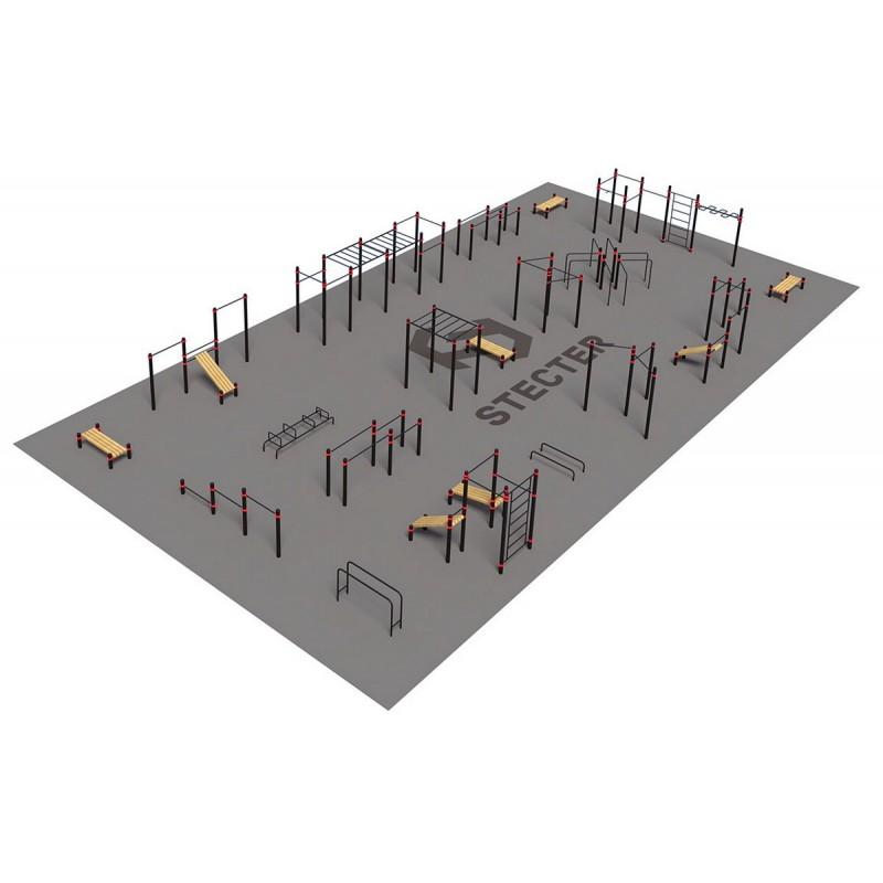 Проект Stecter Парковая площадка для Воркаут 4-4 5083