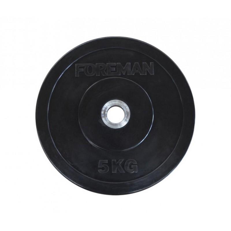 Диск бампированный обрезиненный Foreman D50 мм 1,5 кг FM/BM-1,5 Желтый