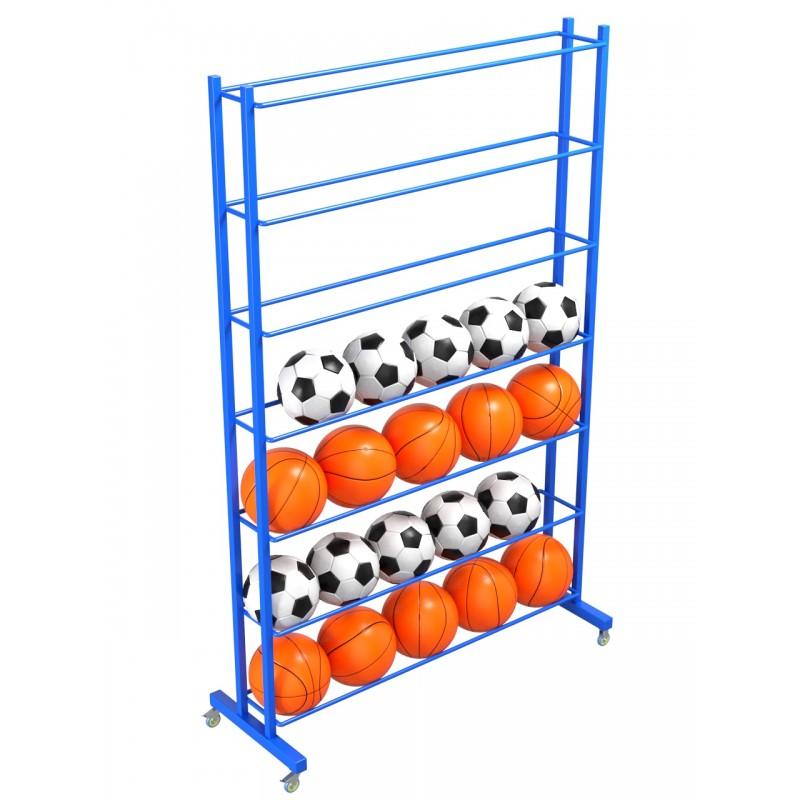 Стеллаж для мячей односторонний Glav 9.305.0 200х210х35 на 56шт