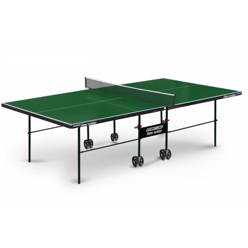 Теннисный стол Start line Game Outdoor с сеткой Green