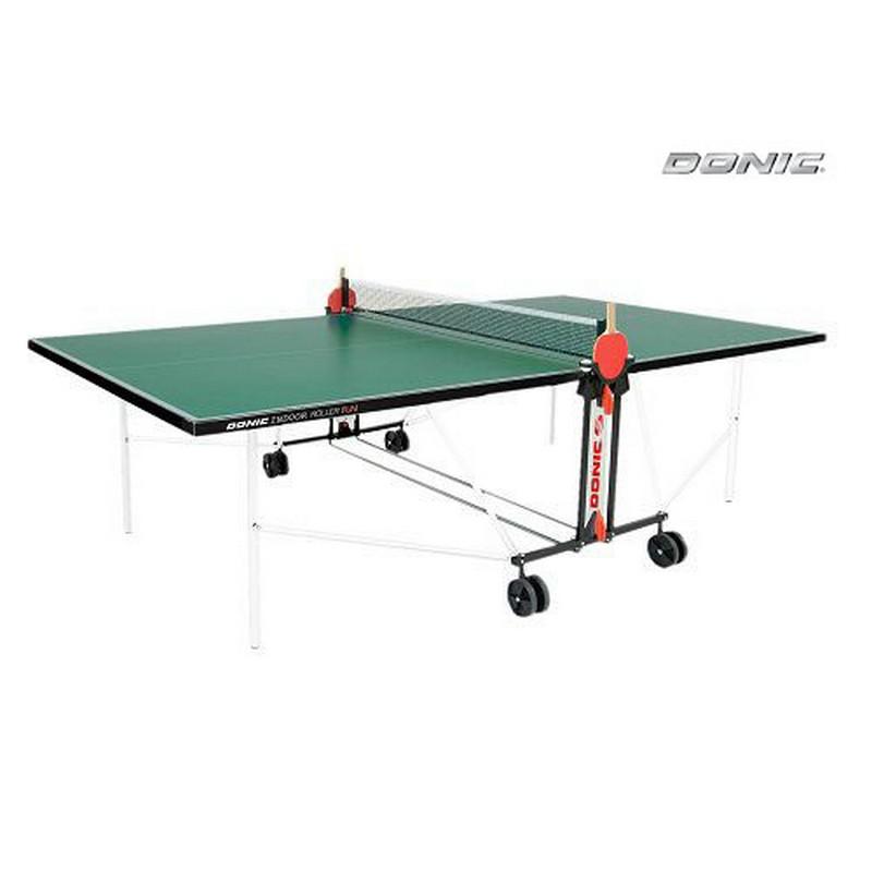 Теннисный стол Donic Outdoor Roller Fun с сеткой 4мм 230234-G green