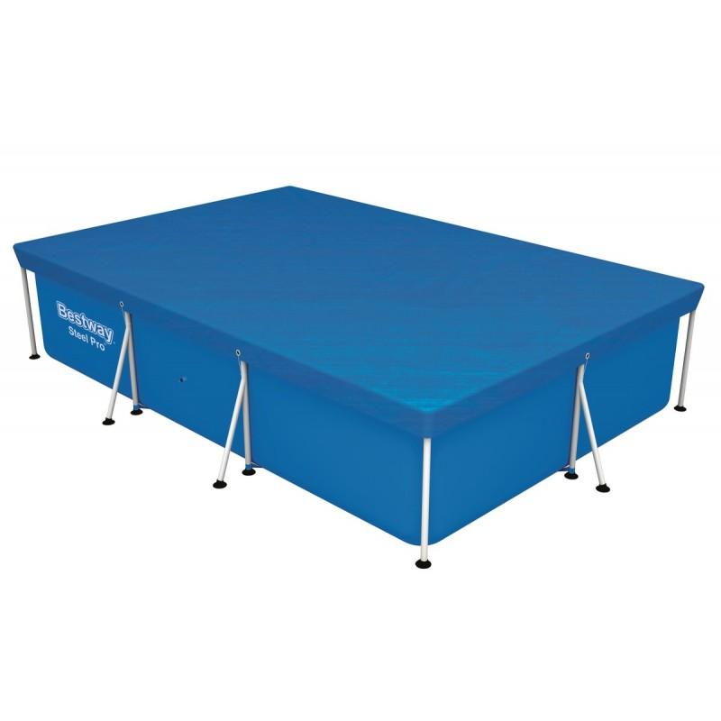 Чехол защитный для бассейна прямоугольного на стойках 300х201 см Bestway 58106
