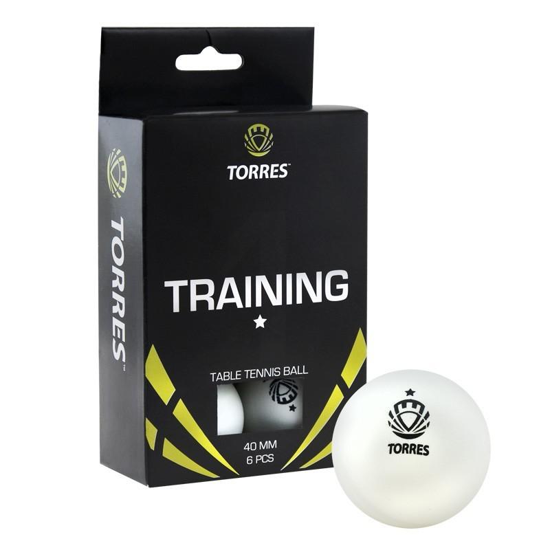 Мячи для настольного тенниса Torres Training 1* 6 шт TT0016 белый