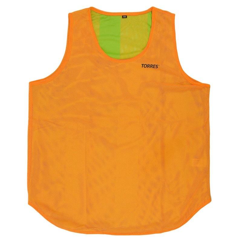 Манишка двухсторонняя детская Torres TR12149O/G  оранжево-зеленый