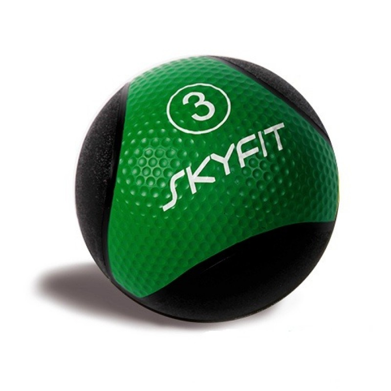 Медицинский мяч 3 кг SkyFit SF-MB3k черный-зеленый