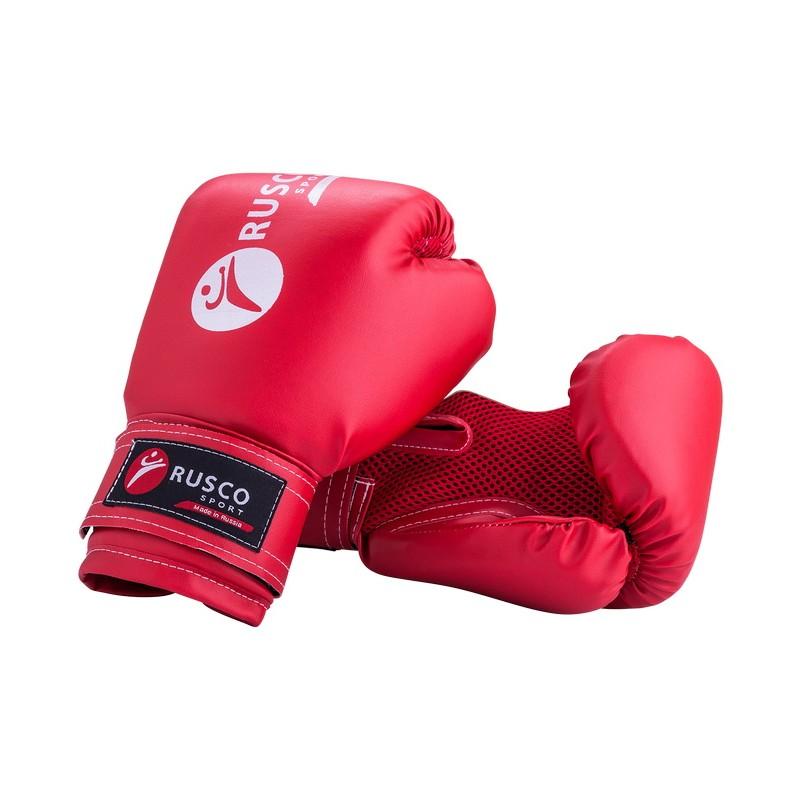 Боксерские перчатки Rusco 6 oz, к/з, красный