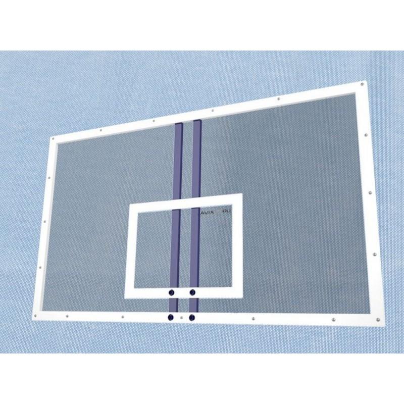 Щит баскетбольный тренировочный Гимнаст эконом 1200х900 мм из оргстекла 8мм на металлической раме 2.555