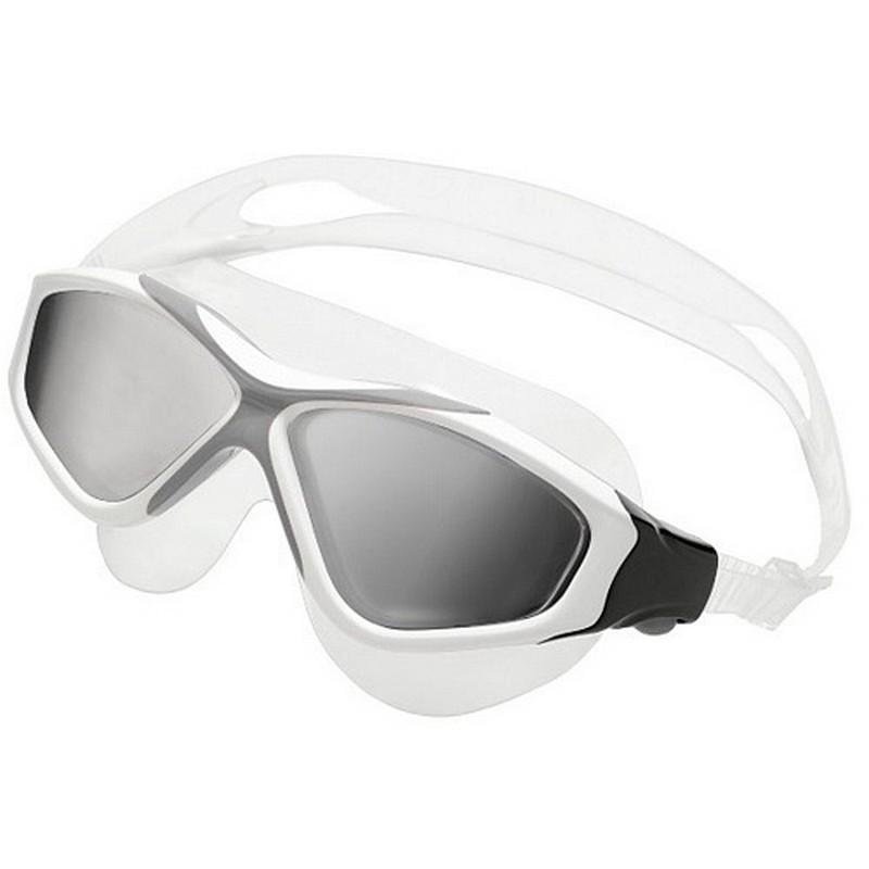 Очки для плавания Larsen K9 UV Marlin WH-SL белый\серый