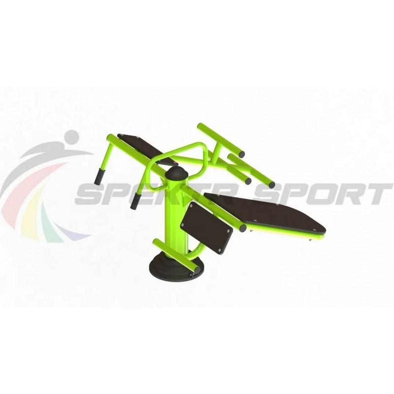 Уличный тренажер взрослый Пресс + Гиперэкстензия для двоих Spektr Sport ТС 122