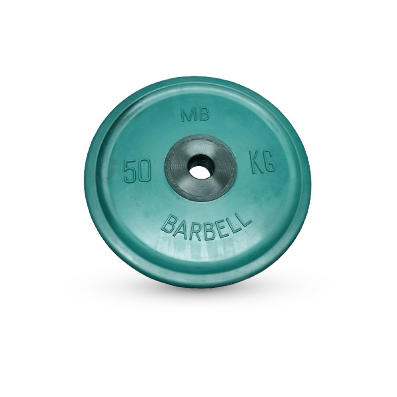 Диск олимпийский d51мм евро-классик MB Barbell MB-PltCE-50 50 кг зеленый