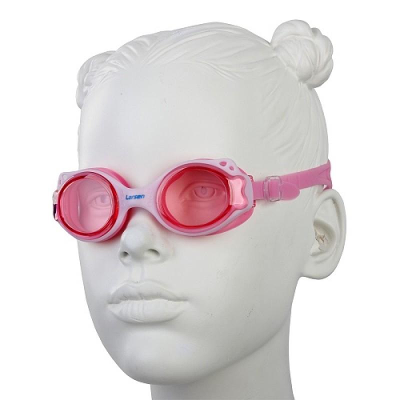 Очки плавательные детские Larsen DS-GG209 soft pink/pink