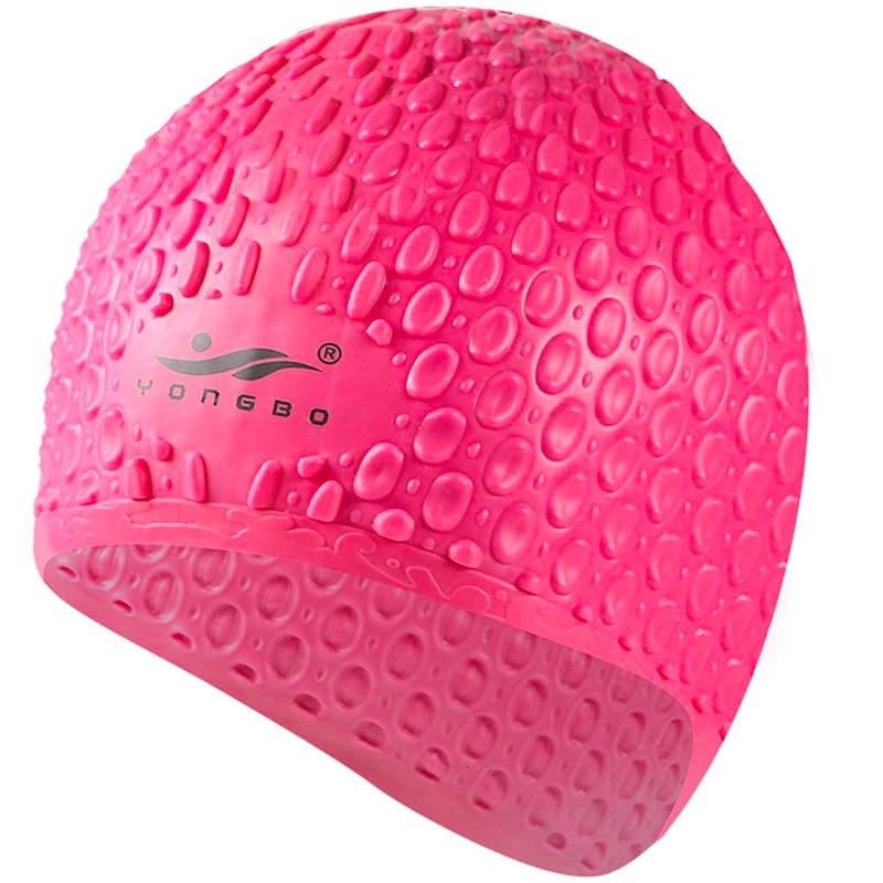 Шапочка для плавания силиконовая Bubble Cap B31552 (розовая)