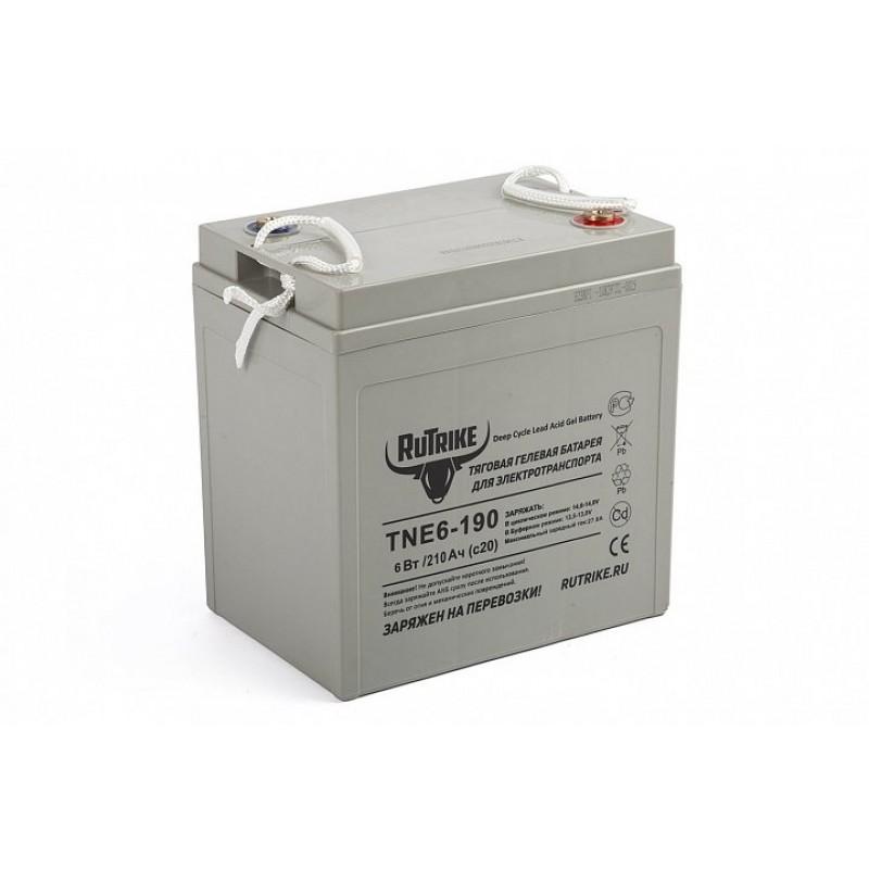 Тяговый гелевый аккумулятор RuTrike TNE6-190 (6V210A/H C3) 22596