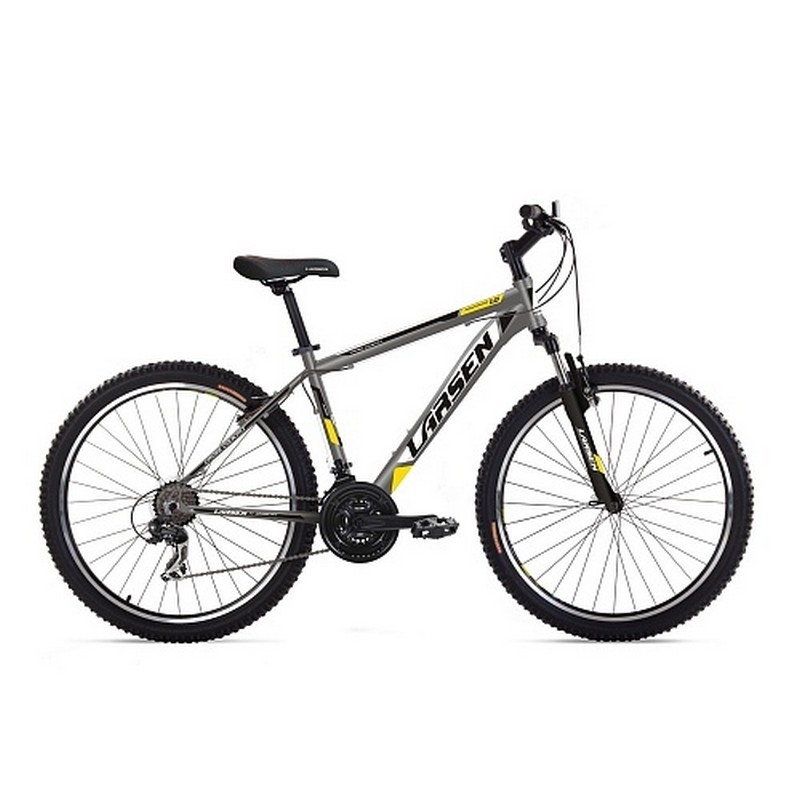 Велосипед Larsen Avantgarde 1.0 21ск, серый\белый\желтый