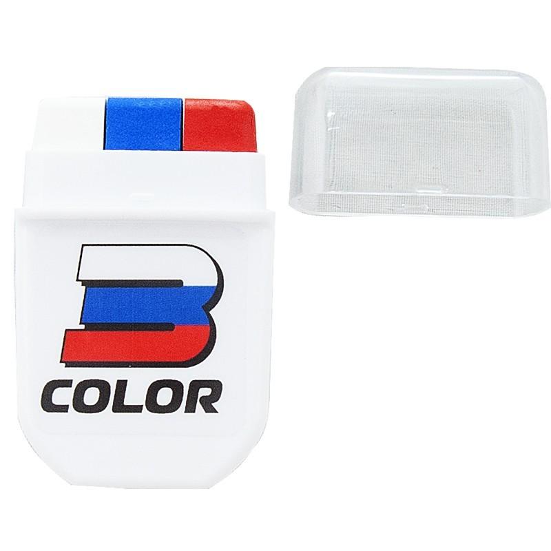 Грим-краска болельщика 3 Color FAN-01, бело-сине-красный