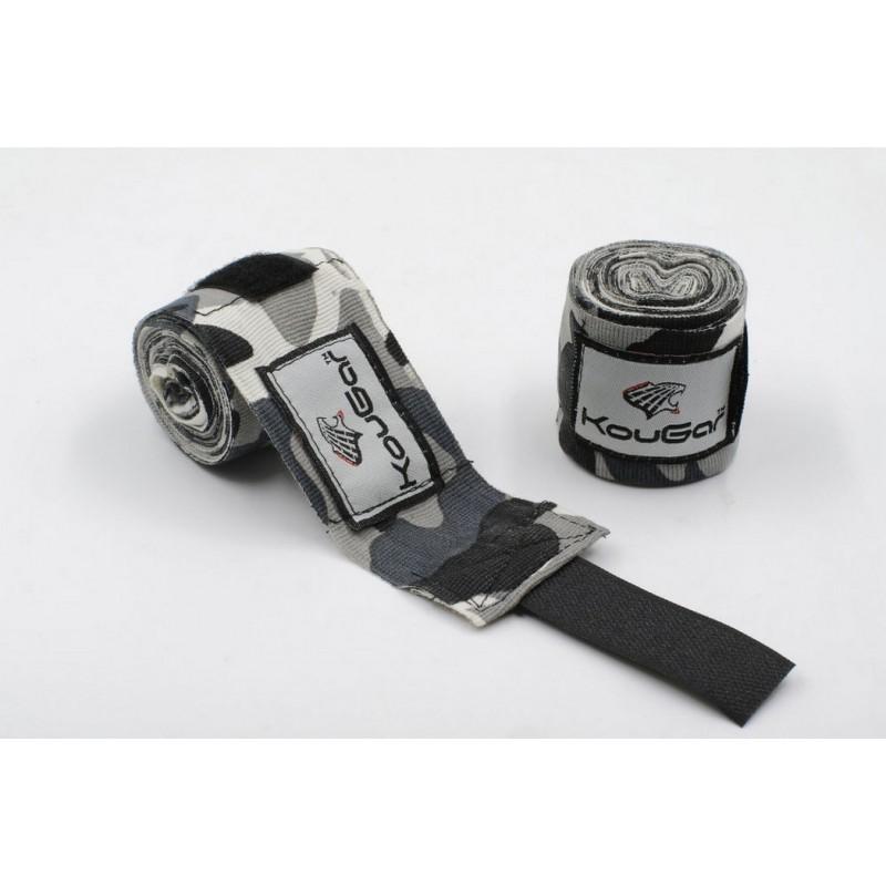 Бинт боксерский Kougar K600, камуфляж серый 350см