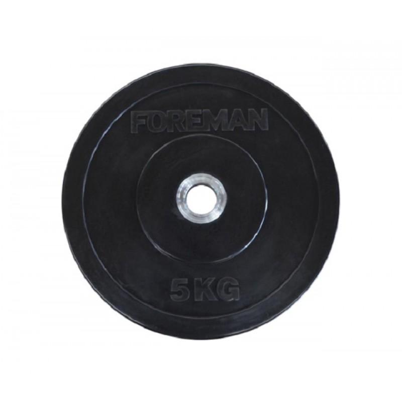 Диск бампированный обрезиненный Foreman D50 мм 5 кг FM/BM-5 черный