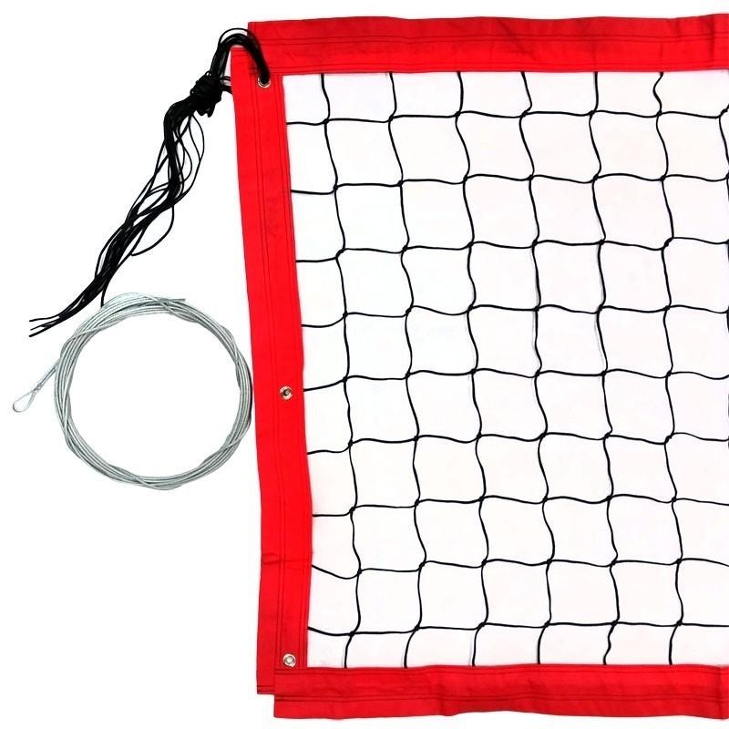 Сетка для пляжного волейбола 8,5х1м,нить 3,5мм ПП,яч.10см FS-PV-№15 черный