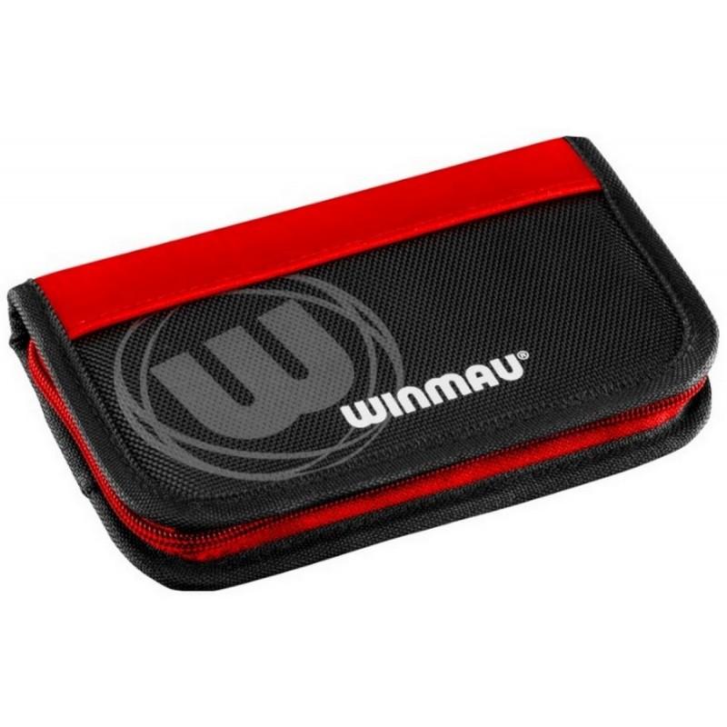Нейлоновый чехол для дротиков Winmau Super Dart Case 2, черный с красными элементами