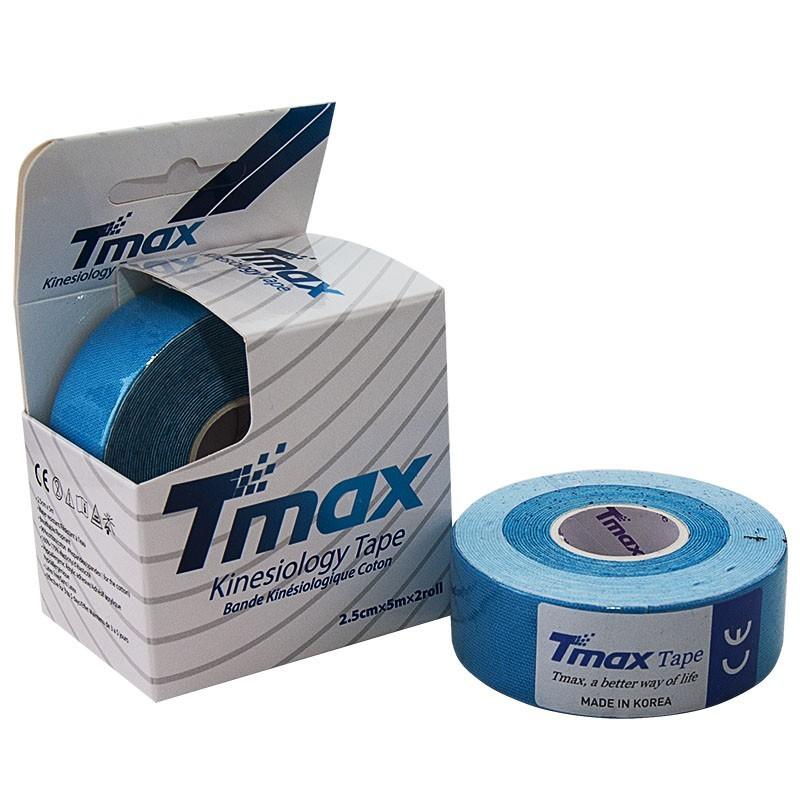 Тейп кинезиологический Tmax Extra Sticky Blue(2,5 см x 5 м), уп. 2 шт, 423822, синий
