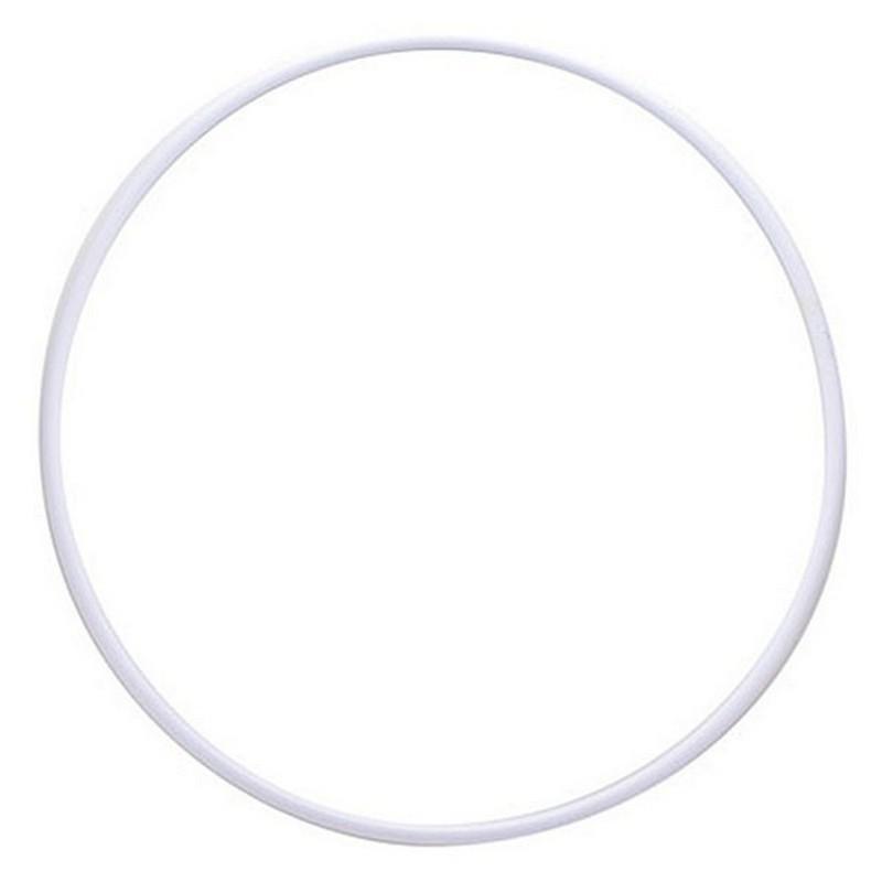 Обруч гимнастический пластмассовый d 600 мм, под обмотку, белый MR-OPl60