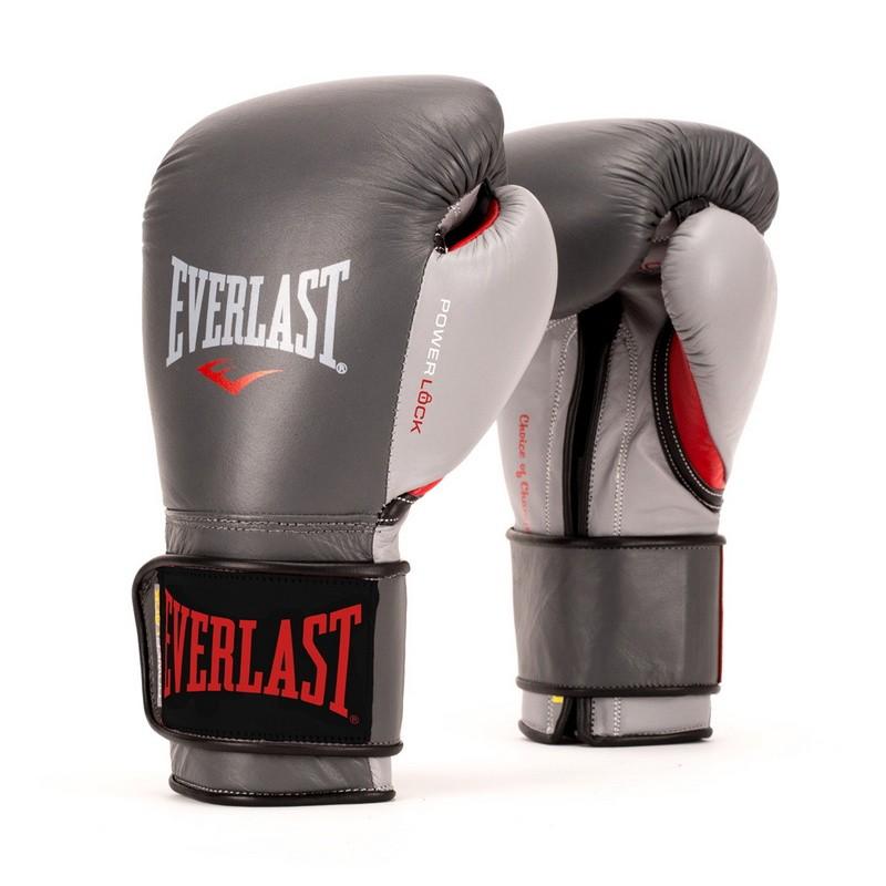 Боксерские перчатки Everlast Powerlock 14 oz серый/красный P00000601