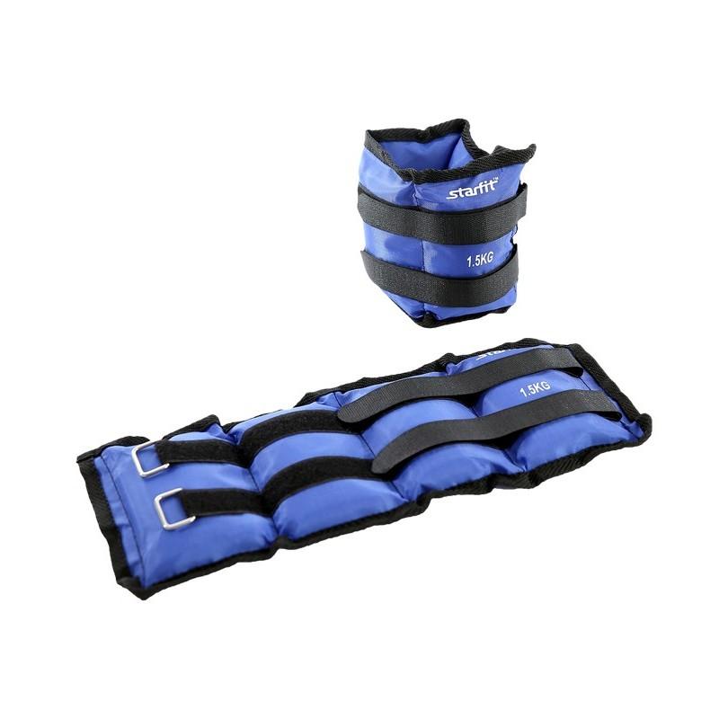 Утяжелители Starfit WT-401 1,5 кг, синий