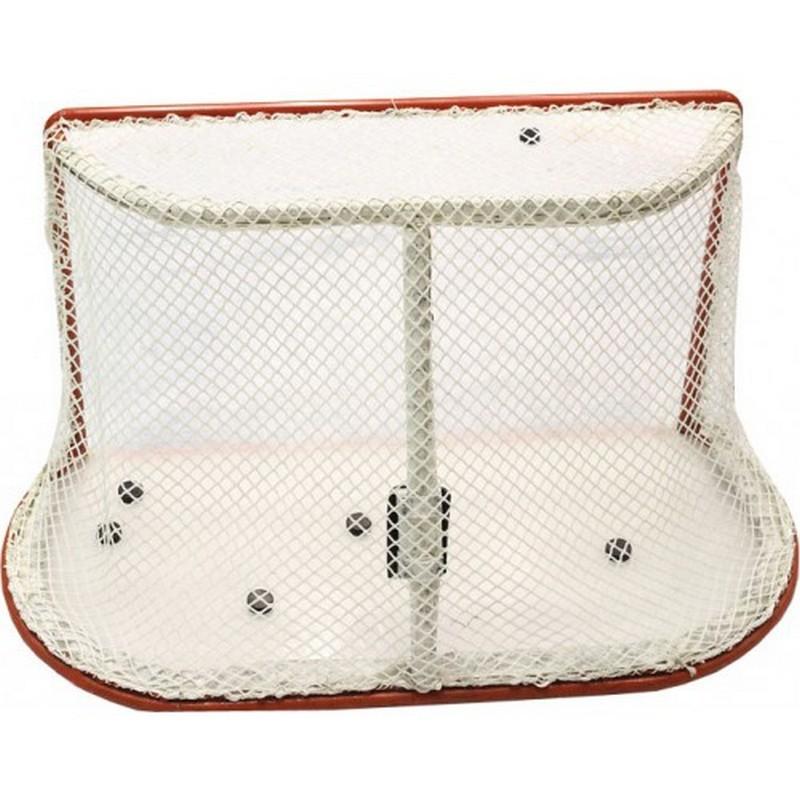 Сетка хоккей Д=3,5мм, ячейки 4x4, цвет белый. ZSO для ворот 1.25x1.85x1,3м.
