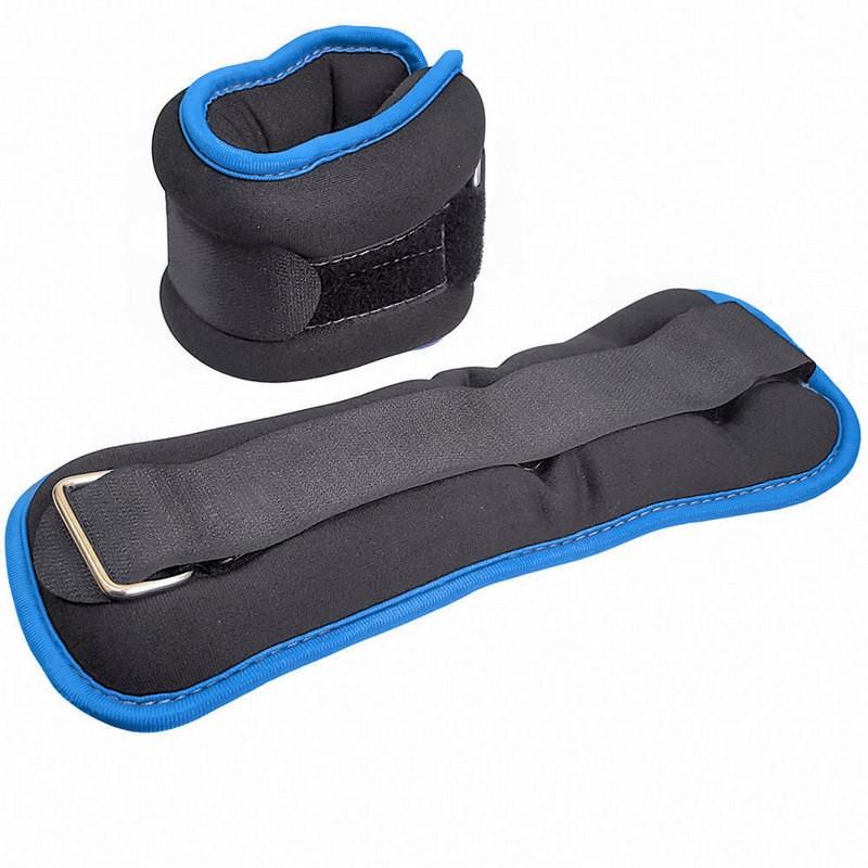 Утяжелители ALT Sport HKAW104-5 (2х0,3кг), нейлон, в сумке (черный с синей окантовкой)