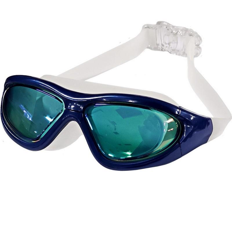 Очки для плавания взрослые полу-маска B31537-1 Синий