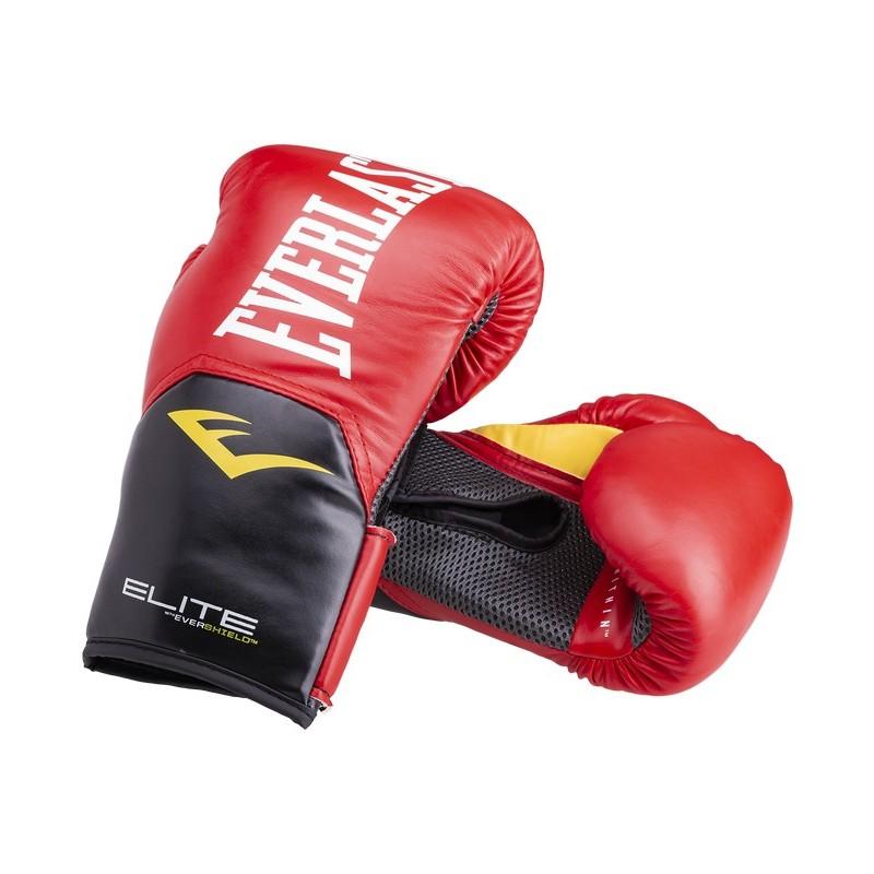 Перчатки боксерские Everlast Elite ProStyle P00001198, 14oz, к/з, красный