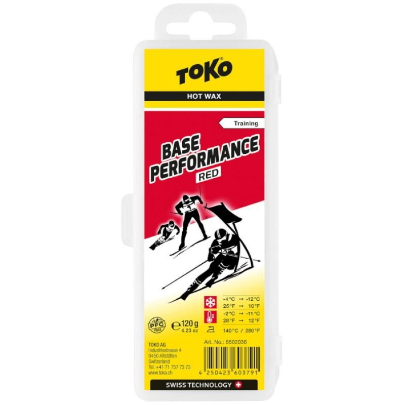 Парафин углеводородный TOKO Base Performance red (-4°С -12°С) 120 г. 5502036